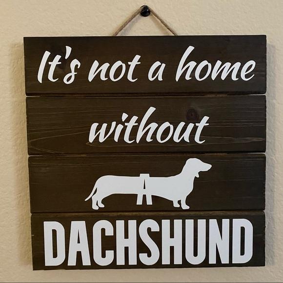 Farmhouse Sign Welcome Dachshund